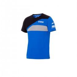 T-shirt Yamaha Bleu Noir Homme